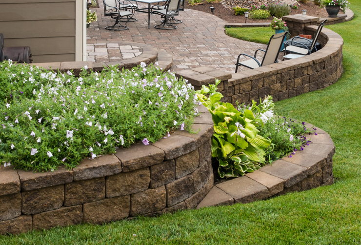 Designs Pictures Suburban Landscape Slm Garden Walls